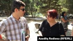Адвокат Фариз Намазлы и журналистка Хадиджа Исмаил