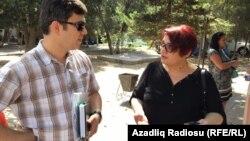 Адвакат Фарыз Намазлы і журналістка Хадзіджа Ісмаілава