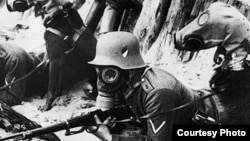 В Первую мировую войну впервые было применено химическое оружие