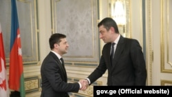 Геогрий Гахария и Владимир Зеленский