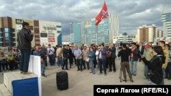 Акция против повышения тарифов на коммунальные услуги и топливо в Якутске