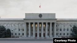 Здание правительства Кыргызстана.