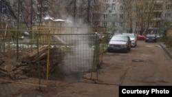 Авария во дворе дома на Осташковской, 17