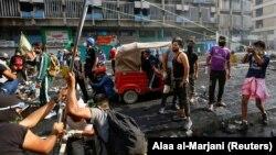 Protestat në Irak.