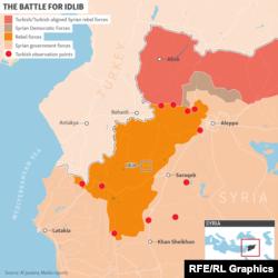 İdlib qəzasının xəritəsi