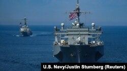ABŞ hərbi gəmiləri Qara dənizdə (Arxiv fotosu)