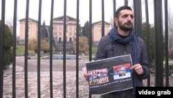 The protests outside the Armenian parliament began on December 1.