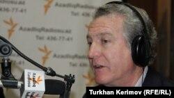 Стивен Корн в студии РадиоАзадлыг, Баку, 12 марта 2012