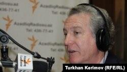 Стивен Корн в студии РадиоАзадлыг, Баку, 12 марта 2012 г.