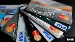 Russia -- Bank cards of international payment sistemVISA and MasterCard, issued in Russia - generic