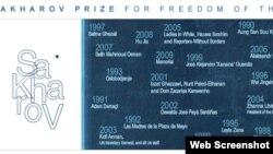 A. Sakharov mükafatçılarının adı