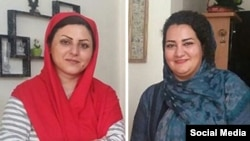 Golrokh Iraee (left) and Atena Daemi