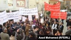 مسيرة احتجاج نسائية في السليمانية