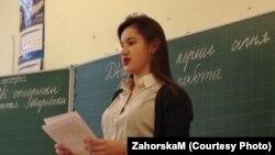 Маргарита Загорська ділиться своїм досвідом зі школярами у Харкові