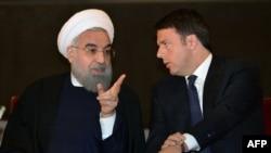Иран президенти Хасан Роухани Италиянын премьер-министри Маттео Ренци менен, 25-январь, 2016-жыл.