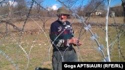 """Житель Грузии возле """"границы"""" с непризнанной Южной Осетией"""