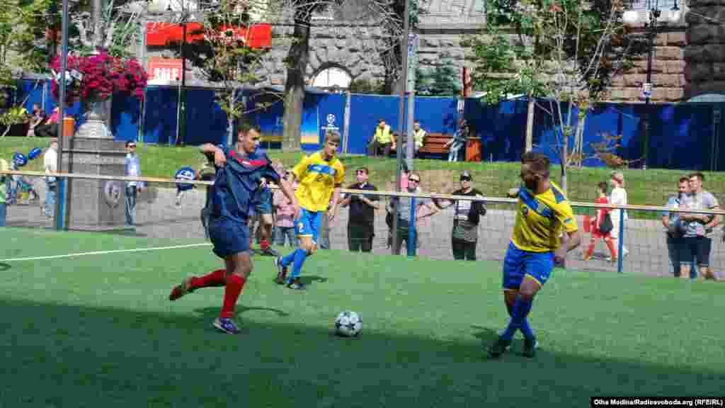 Матч молодежной сборной Киевской области против национальной паралимпийской сборной Украины по футболу