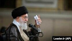 IRAN -- Iranian Supreme Leader Ayatollah Ali Khamenei attends a meeting with lawmakers in Tehran, June 20, 2018