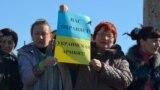 Акция крымских женщин против российской агрессии и оккупации Крыма. Симферополь, 3 марта 2014 года
