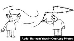 Abd al-Rahim Ýasiriň çeken karikaturasy.