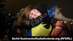 Зустріч звільнених полонених. Аеропорт «Бориспіль», ніч на 28 грудня 2017 року