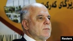 د عراق وزیراعظم حېدر العبادي دیوې خبری غونډې پرمهال