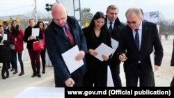 La inaugurarea lucrărilor de prelungire a gazoductului Iaşi-Ungheni, 18 februarie 2019