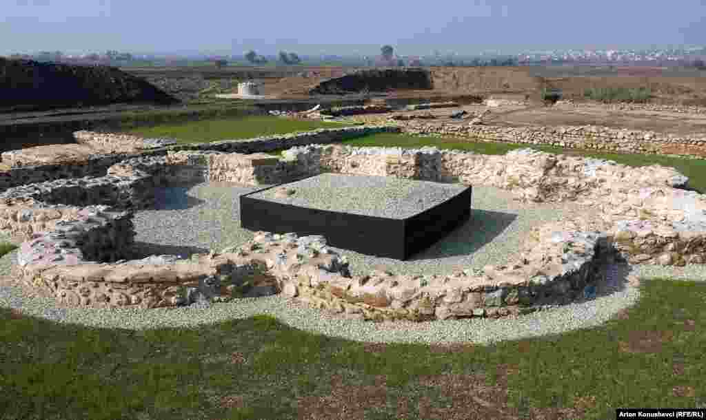 An excavation site at the ruins of the ancient Roman city of Ulpiana, near Pristina, the capital of Kosovo