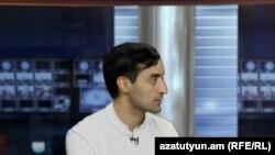 Փաստաբան Արա Գարագյոզյանը «Ազատության» ստուդիայում, արխիվ: