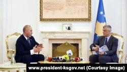 Kryeministri Ramush Haradinaj dhe presidenti Hashim Thaçi.
