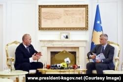 Premijer i predsednik Kosova: Ramuš Haradinaj i Hašim Tači