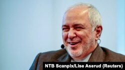 Iranian Foreign Minister Javad Zarif attends a seminar at Norwegian Institute of International Affairs (NUPI) in Oslo, Norway, August 22, 2019.