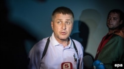 Самопровозглашенный мэр Славянска Вячеслав Пономарев.
