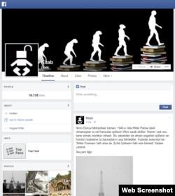 """Facebookdakı """"Kitab"""" səhifəsi"""