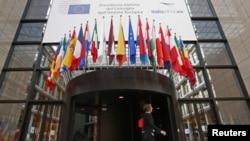 نمایی از ساختمان شورای اروپایی در بلژیک
