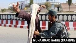 La un control de securitate în Afganistan