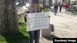 Наталья Коротина. Пострадавшие от наводнения ежедневно выходят на одиночные пикеты.