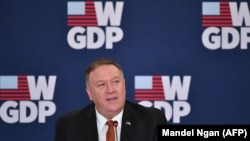 U.S. Secretary of State Mike Pompeo attends an event celebrating the one-year anniversary of the White House's Women's Global Development and Prosperity (W-GDP) Initiative at the Department of State in Washington, February 12, 2020