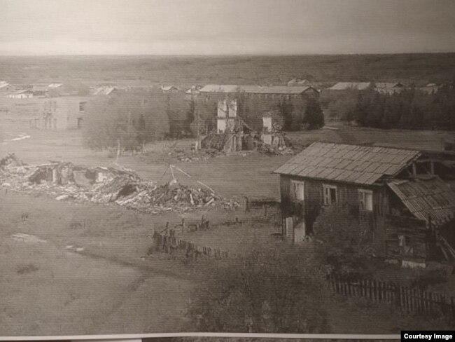 Место, где родился Сергей Тарасов, сегодня: здесь уже никто не живет.