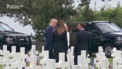 Trump Joins Macron At D-Day Commemoration In Normandy