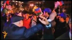 Прихильники президента Азербайджану святкують його переобрання