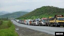 Իրանական բեռնատարներ Գորիս-Կապան ավտոճանապարհին, հոկտեմբեր, 2021թ․