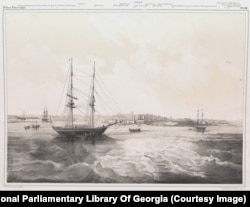 Ships in the harbor of Sevastopol.