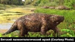 Парейазавр вида Дельтавятия Вятская