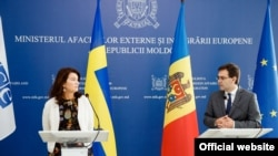 Ann Linde și Nicu Popescu, Chișinău, 6 octombrie 2021