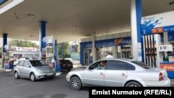 Одна из автозаправочных станцмй в Бишкеке.