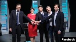 Ellenzéki előválasztási vita 2021. szeptember 24-én.