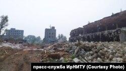"""территория бывшего завода """"Востсибэлемент"""" в Свирске"""