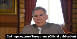Скриншот с видеозаписи обращения президента Татарстана к участникам форума в ОАЭ