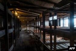 Спално помещение в лагера Заксенхаузен